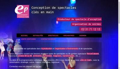 Site internet de Evenement Production