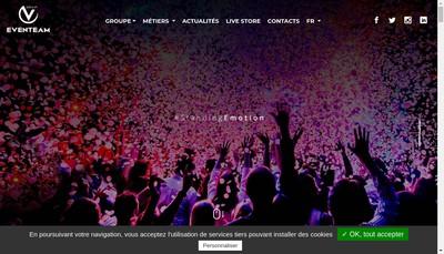 Site internet de Groupe Eventeam