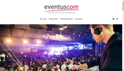 Site internet de Eventuscom