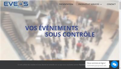 Site internet de Eveos