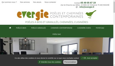 Site internet de Evergie