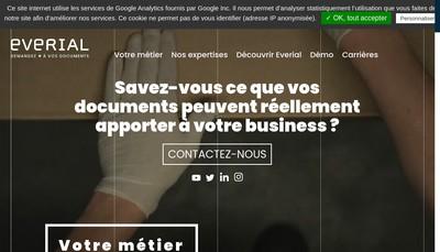 Site internet de Societe Partenaire de Gestion d'Archives