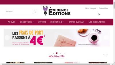 Site internet de Evidence Editions