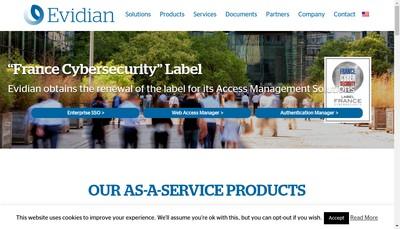 Site internet de Evidian