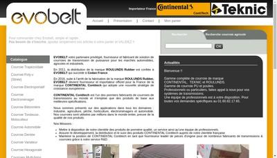 Site internet de Evobelt