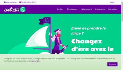 Site internet de Evoliatis