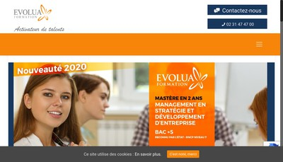 Site internet de Evolua Formation
