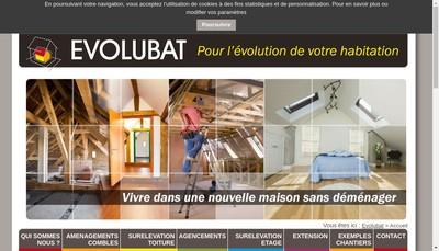 Site internet de Evolubat Baechle Didier