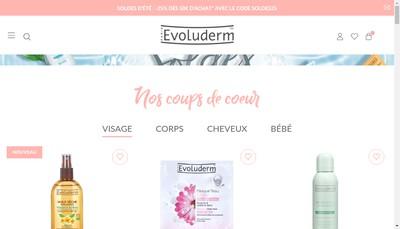 Site internet de Evoluderm