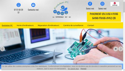 Site internet de Evolution-Pc