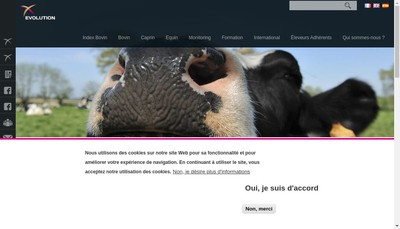 Site internet de Evolution