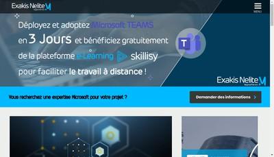 Site internet de Exakis Nelite Groupe
