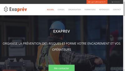 Site internet de Exaprev