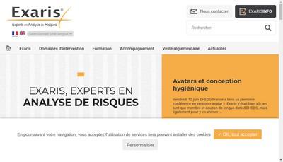 Site internet de Exaris