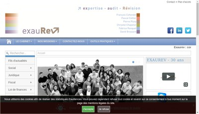 Site internet de Exaurev