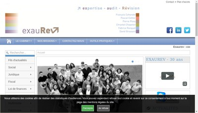 Site internet de Exaurev Audit