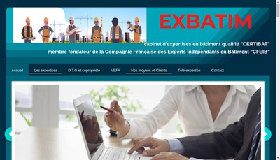Site internet de Exbatim
