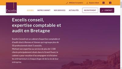 Site internet de Excelis Conseil