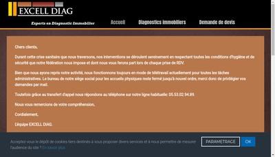 Site internet de Excell Diag