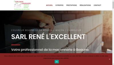 Site internet de SARL Rene l'Excellent