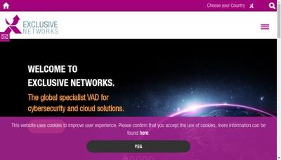 Site internet de Exclusive Networks