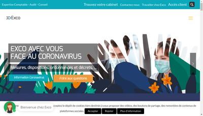 Site internet de Exco Loire
