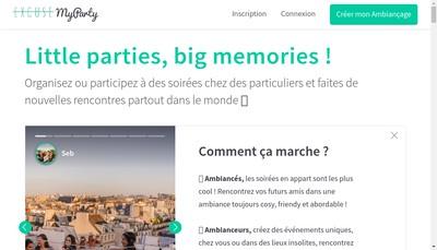 Site internet de Excuse Myparty