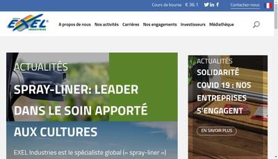 Site internet de Exel Industries