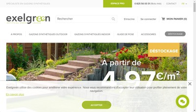 Site internet de Exelgreen