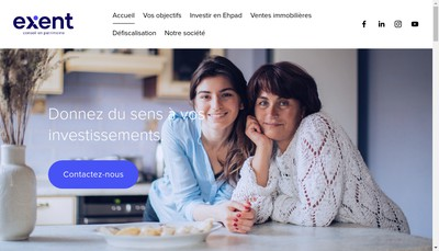 Site internet de Exent