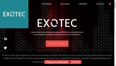 Site internet de Exotec