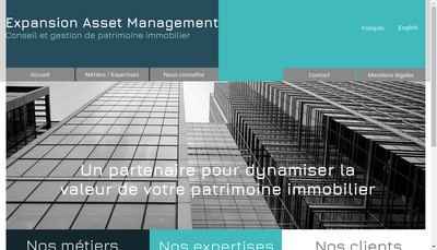 Site internet de Expansion Asset Management
