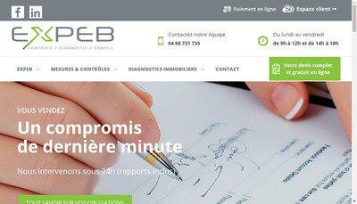 Site internet de Expeb