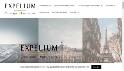 Site internet de Expelium Courtage & Patrimoine
