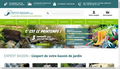Site internet de Expert Bassin