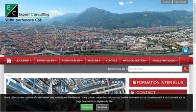 Site internet de Expert Consulting Conseil Formation