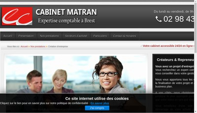 Site internet de Cabinet Sabine Matran