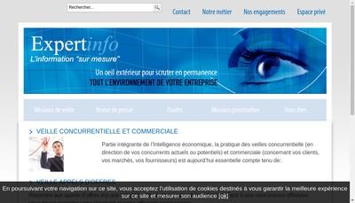 Site internet de Expertinfo