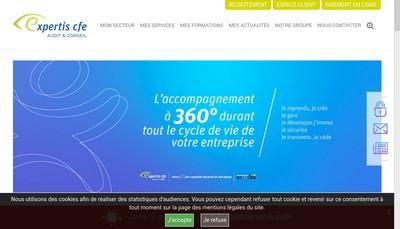 Site internet de Expertis Cfe Audit et Conseil