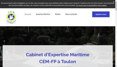 Site internet de Cabinet d'Expertise Maritime Cem-Fp
