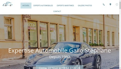 Site internet de Mg Expertises Auto