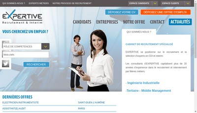 Site internet de Expertive