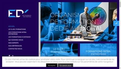Site internet de Les Experts du Digital