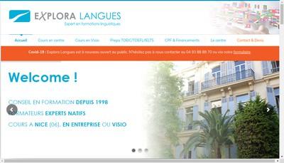 Site internet de Explora Langues