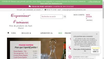 Site internet de Expressions-Fermieres