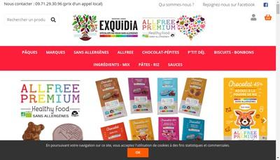 Site internet de Exquidia - Allergoora