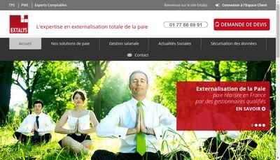 Site internet de Extalys