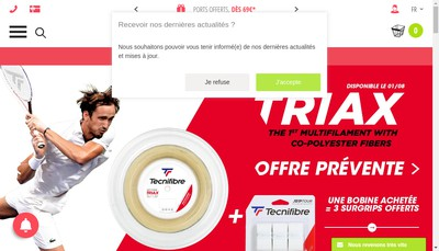 Site internet de Extreme Tennis