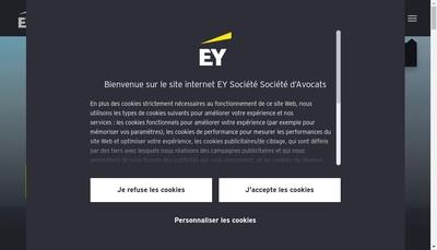 Site internet de Ey Ventury Avocats