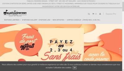 Site internet de Eyefood Factory